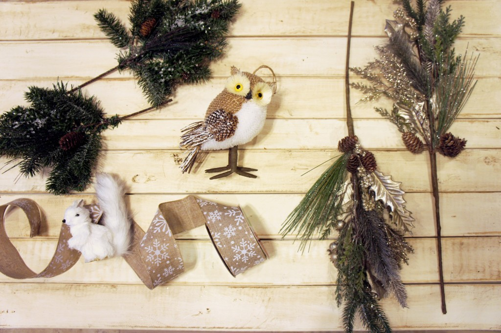 winter, woodland theme, winter woodland wreath, snow owls, snowflakes, diy, craft, wreath, our messy table
