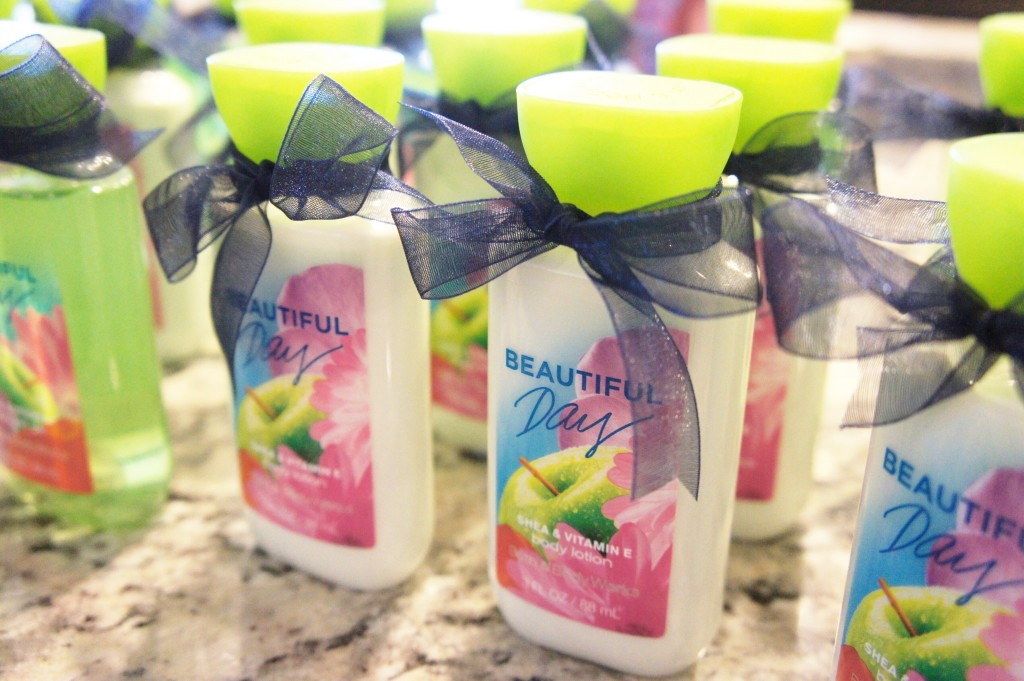 bridal shower, shower favors, guests