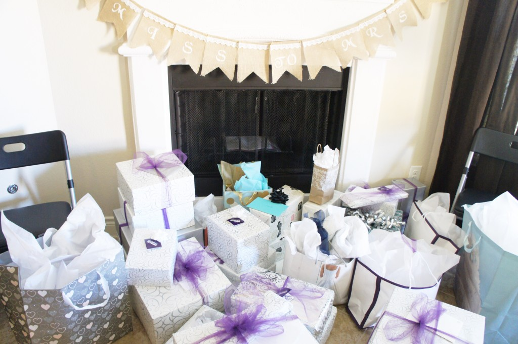 bridal shower gift table