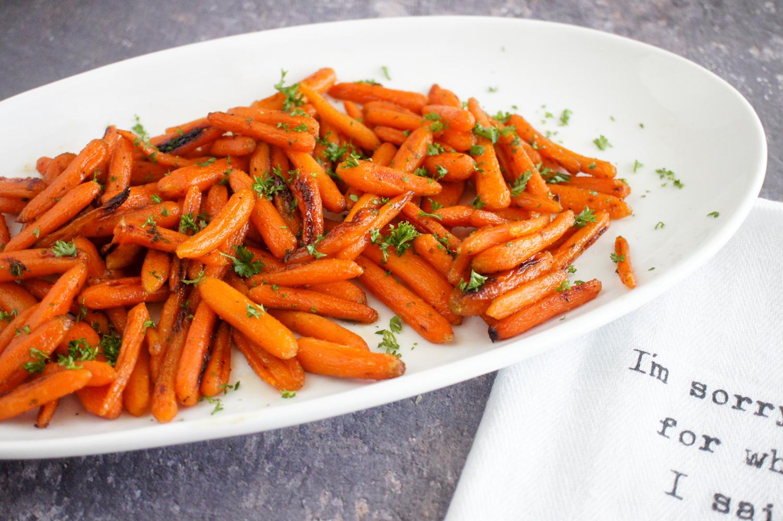 honey glazed carrots, roasted carrots, side dish, carrot recipe, quick recipe,